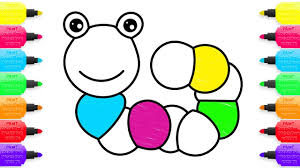 how to draw colorful caterpillar coloring pages toys for kids