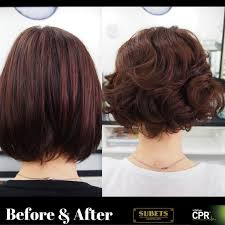 body wave perm hairstyle before and after on short hair body perm short hair before and after images before and after