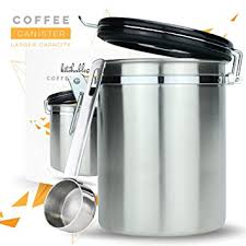 kitchen storage canister amazon com coffee canister large airtight seal set with scoop