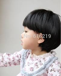 Mushroom Hairstyle Fashion Baby Mushroom Hairstyle Wig Black Short Hair On Aliexpress