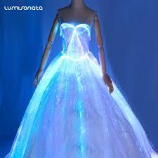 zac posen light up gown led flashing custom prom dress