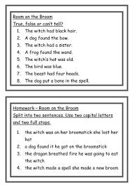 free room on the broom workbook 16 thinking hat worksheets for