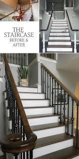 Oak Banister Makeover Tamara U0027s Kitchen Living Room U0026 Staircase Renovation Polished