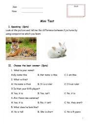 english worksheets mini test family and friends 2