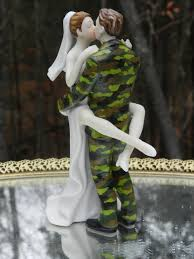 us army soldier camo military uniform wedding cake topper
