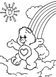 cartoon coloring for kids care bears coloring pages