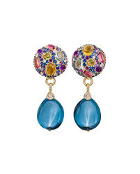 topaz earrings margot mckinney jewelry carnivale denim blue topaz earrings with