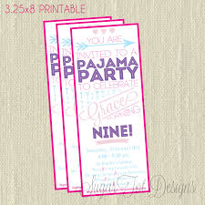 sleepover party invites valentines day party invitation pajama party invitation modern