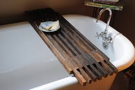 How To Make A Wooden Bath Tub by 19 Bathtub Caddy With Reading Rack Bandalou The Best Place