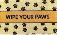Coir Doormat Wipe Your Paws Coir Doormat Monogrammed Coir Doormat