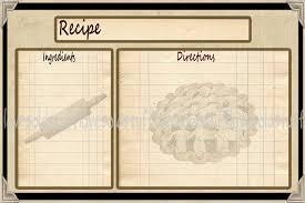 printable recipe cards 4 x 6 primitive recipie card pie primitive recipe cards 4x6 vintage
