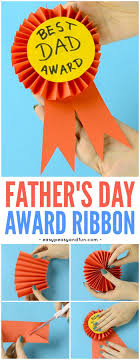 craft ribbon diy paper award ribbon s day craft idea easy peasy and