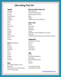 clean eating food list printable to simply inspire