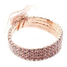 Wrist Corsage Bracelet Rock Candy Rose Gold Wrist Corsage Bracelet