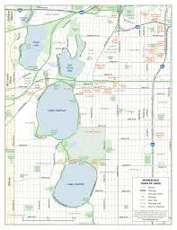 Wisconsin Lake Maps by A Map Of All Of The Lakes That Make Up The City Of Minneapolis