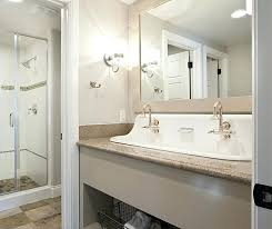 trough sink with 2 faucets troff sinks bathroom double faucet trough sink 2 utility single