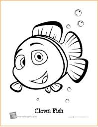 clown fish free printable coloring free coloring pages
