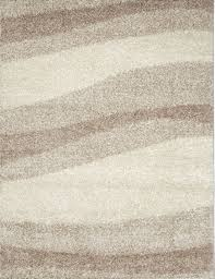 Area Rugs Beige Contemporary Modern Shag Ivory Beige Area Rug Waves Shaggy Floor