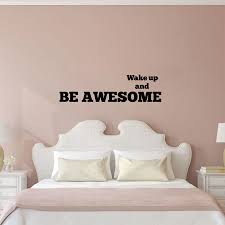 popular awesome decals buy cheap awesome decals lots from china inspirational bedroom wall stickers wake up and be awesome nursery kids room bedroom