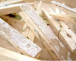 Shabby Chic Wedding Accessories by Sale Lace Clothes Pins Antique White Pegs Lace Clothespins Diy