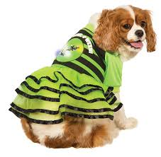 halloween costume lights amazon com rubie u0027s led light up ruffled dog dress halloween