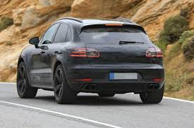 porsche suv blacked out 2018 porsche macan u2013 new turbo v6 engines and restyled interior