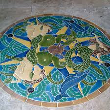 perfect mosaic bathroom floor tile ideas in design