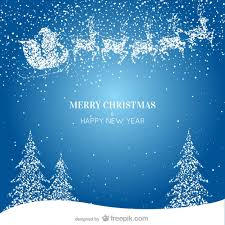 merry christmas u0026 happy background vector free vector