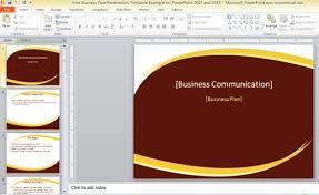 microsoft office business plan template