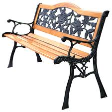 Garden Bench Hardwood Costway Patio Park Garden Bench Porch Path Chair Furniture Cast
