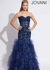 jovani 1531 aqua strapless lace mermaid prom gown