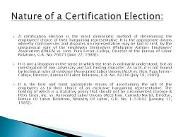 ection bureau association certification election an overview ppt