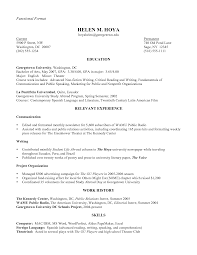 Sample Resume Public Relations Writing A Functional Resume Resume For Your Job Application