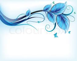 Blue Flower Backgrounds - blue floral on black background vector stock vector colourbox