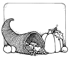 thanksgiving border clipart black white free clip art images