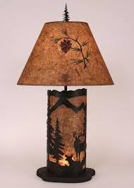 deer scene lamp at black forest decor