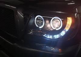 led halo headlight accent lights just installed the spyder projector led kit on my 2011 tacoma world
