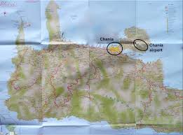 Crete Map Chania Crete Greece Lucky 2b Here
