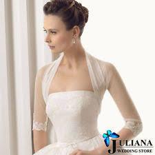 3 4 sleeve bridal wedding lace bolero jacket wrap shawl ebay