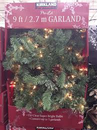 kirkland signature 9 ft pre lit garland amazon co uk garden