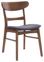 Midcentury Dining Chair Emerald Home Simplicity Side Chair Wood Back Set Of 2