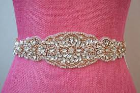 bling ribbon gold bridal belt on ribbon sash gold bridal sash