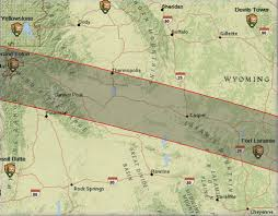 map of wyoming 2017 solar eclipse wyoming map path of totality