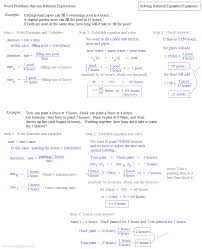 solving rational equations word problems