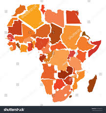 Map Of Africa With Countries by Abstract Map Africa Separated Countries Stock Vector 171532676