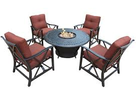 Deep Seating Patio Furniture Covers - oakland living charleston patio deep seating 5pc fire set w