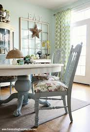 Kitchen Table Decorating Ideas Dining Room Table And Chairs Makeover With Annie Sloan Chalk Paint