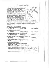 Worksheets For Geography Mesopotamia Hartman Happenings