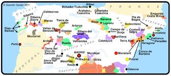 Map Of Spain Regions by Spain Wine Map Quentin Sadler U0027s Wine Page