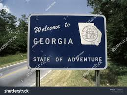 Ga State Parks Map by This Road Sign That Says Welcome Stock Photo 177983210 Shutterstock